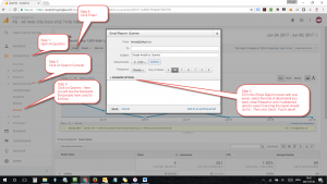 Step by step screen shot on how to enable automatic reports from Google Search Console