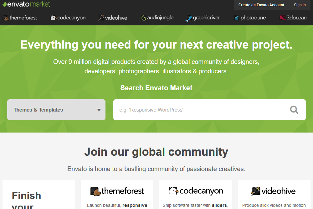 Envato Market Screen Shot