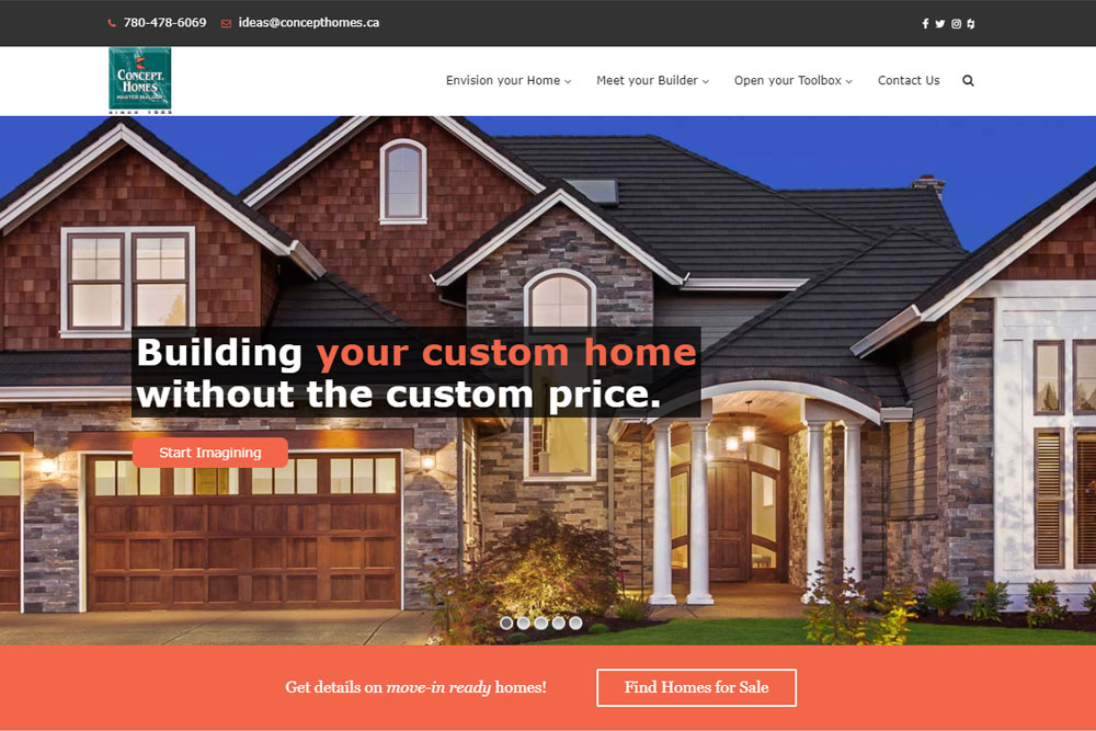 Concept Homes Screen Shot