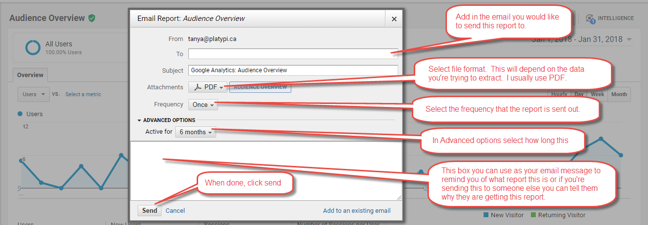 Google Analytics Share Settings