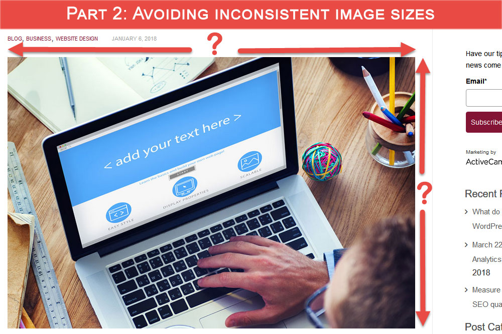 Part 2: Avoiding inconsistent image sizes